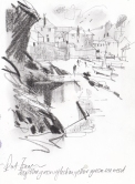 Sketch for Causeway and Reflections Port Isaac